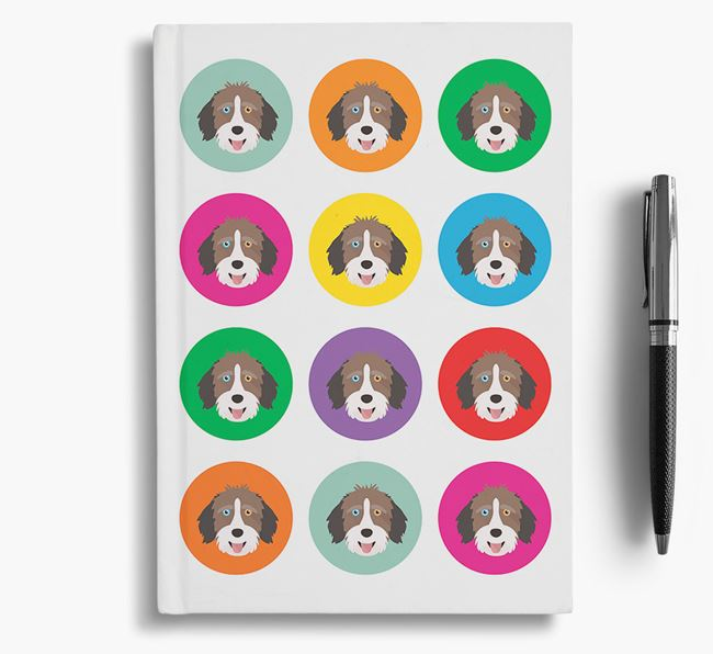 Aussiedoodle Icons Notebook