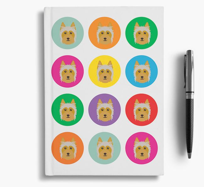 Silky Terrier Icons Notebook
