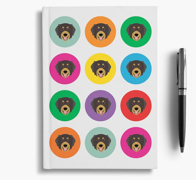 Bernedoodle Icons Notebook
