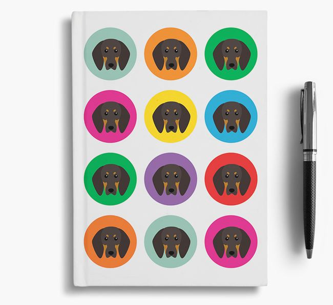 Coonhound Icons Notebook