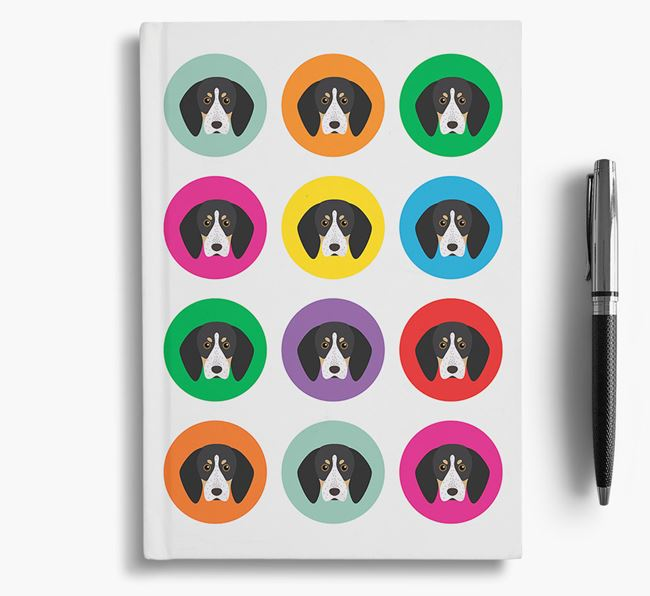 Bluetick Coonhound Icons Notebook