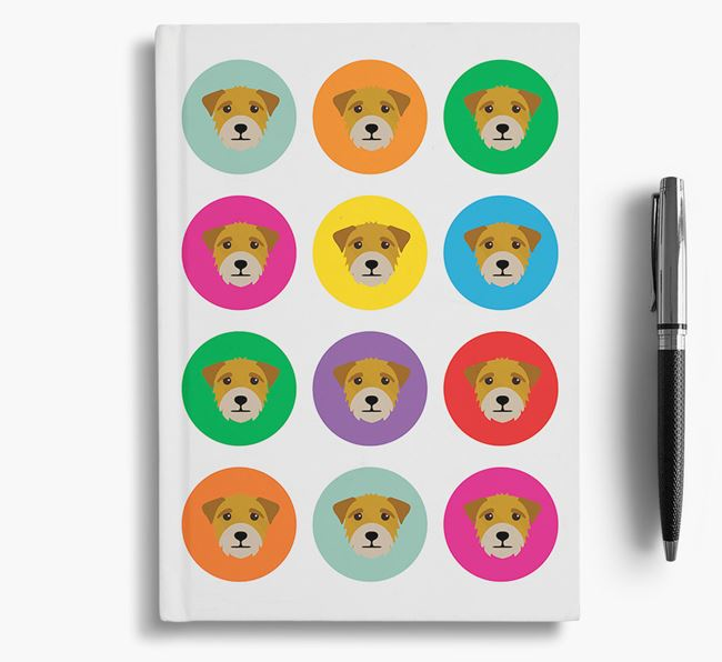 Border Terrier Icons Notebook