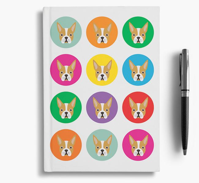 Boston Terrier Icons Notebook