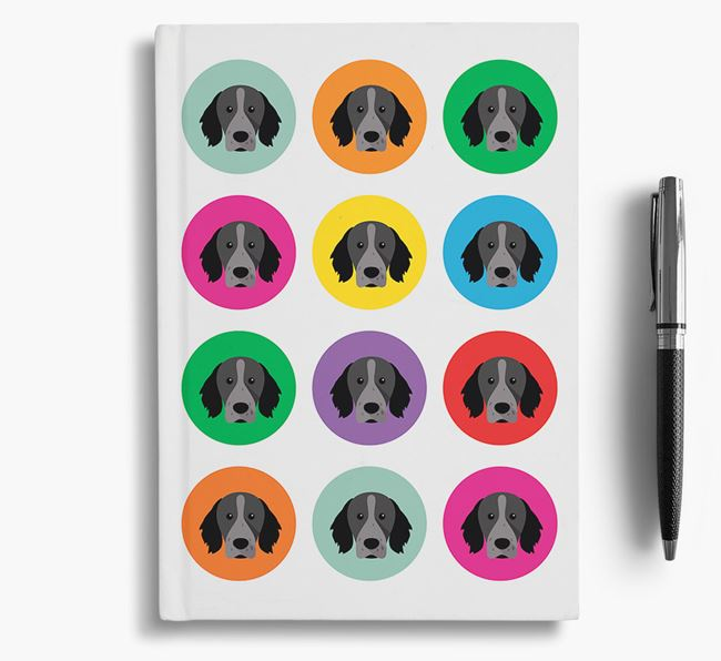Brittany Spaniel Icons Notebook