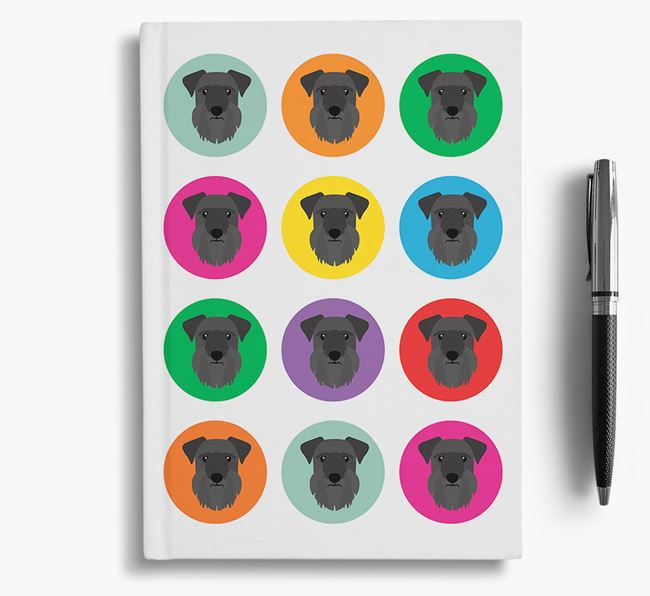 Cesky Terrier Icons Notebook