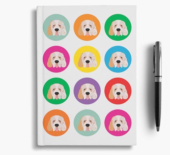 Clumber Spaniel Icons Notebook