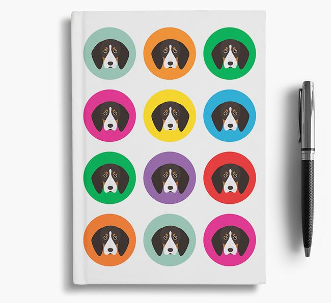 English Coonhound Icons Notebook