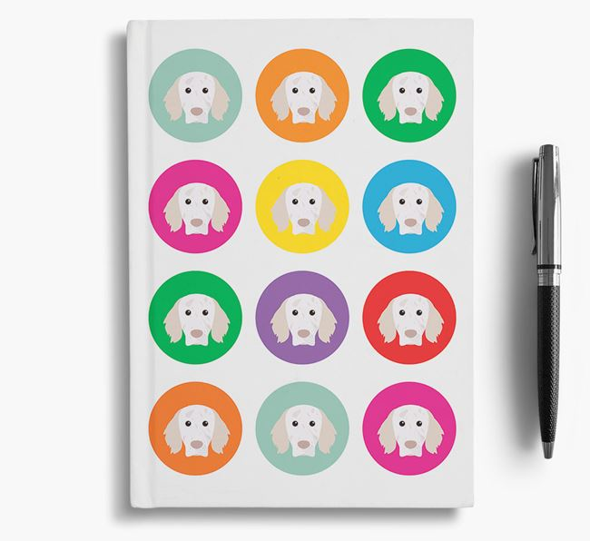 English Setter Icons Notebook