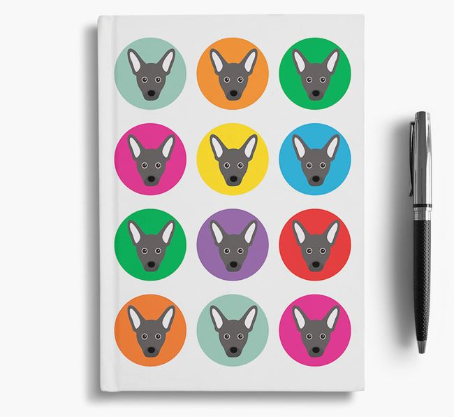 French Pin Icons Notebook