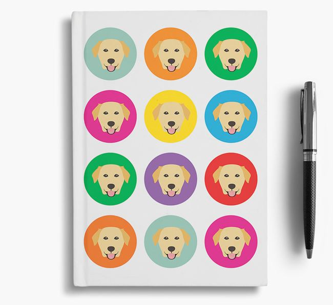 Golden Lab Icons Notebook