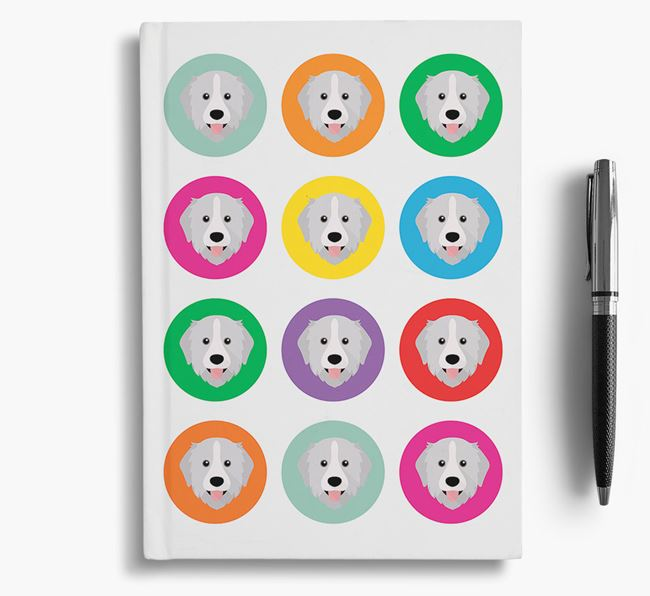 Great Pyrenees Icons Notebook