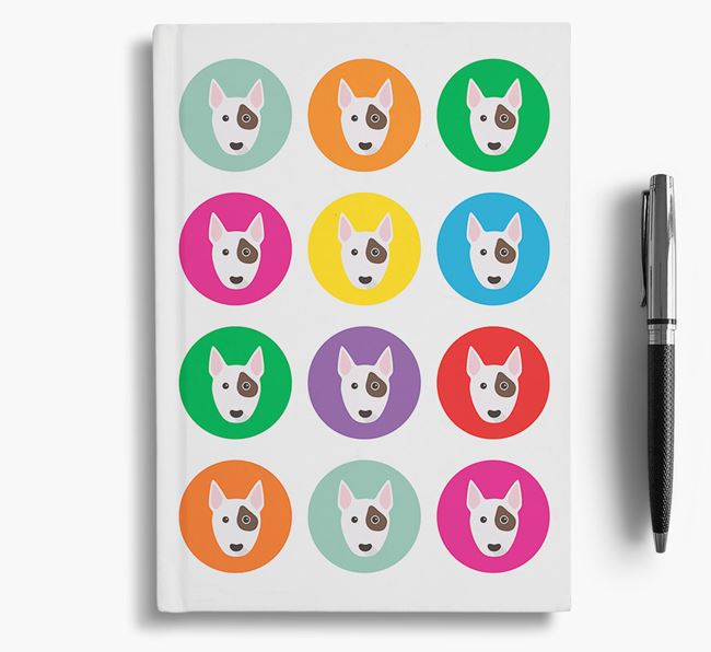 Miniature Bull Terrier Icons Notebook