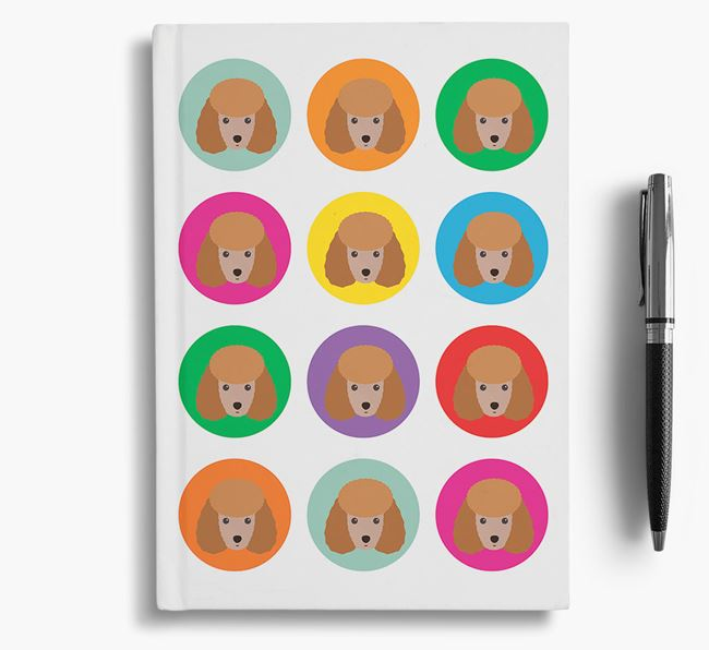 Miniature Poodle Icons Notebook