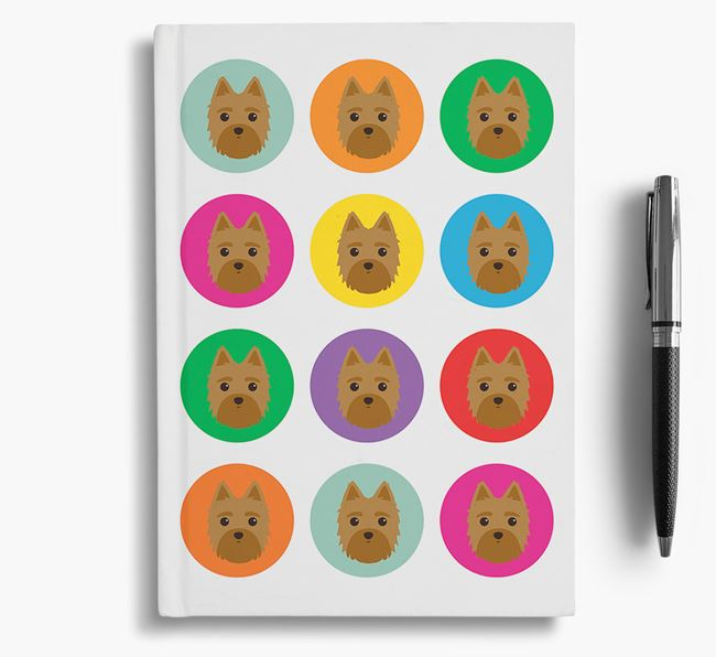 Morkie Icons Notebook