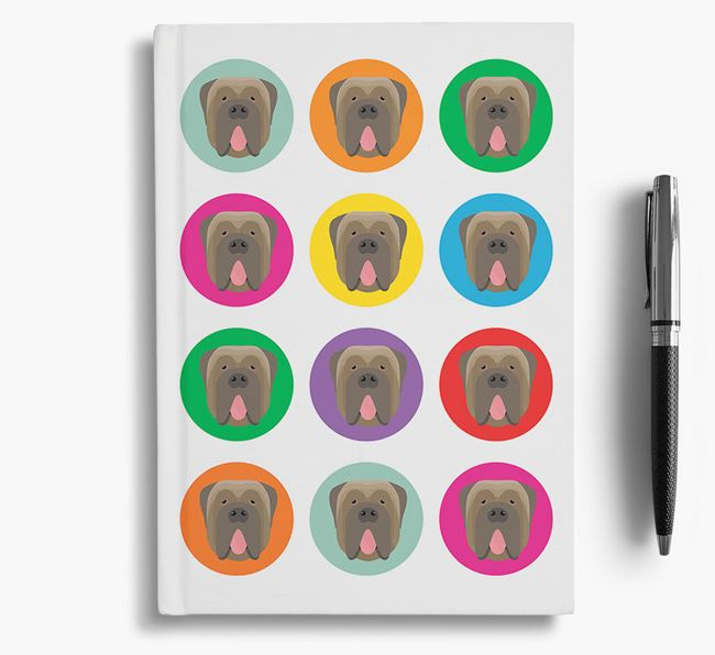Neapolitan Mastiff Icons Notebook