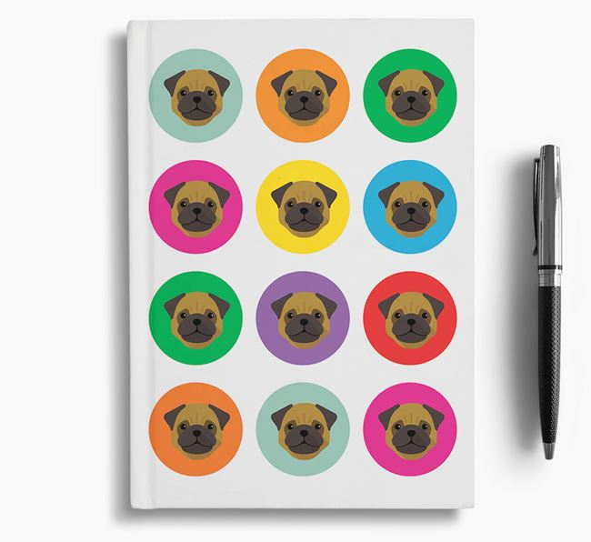 Pug Icons Notebook