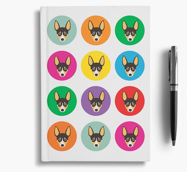 Toy Fox Terrier Icons Notebook