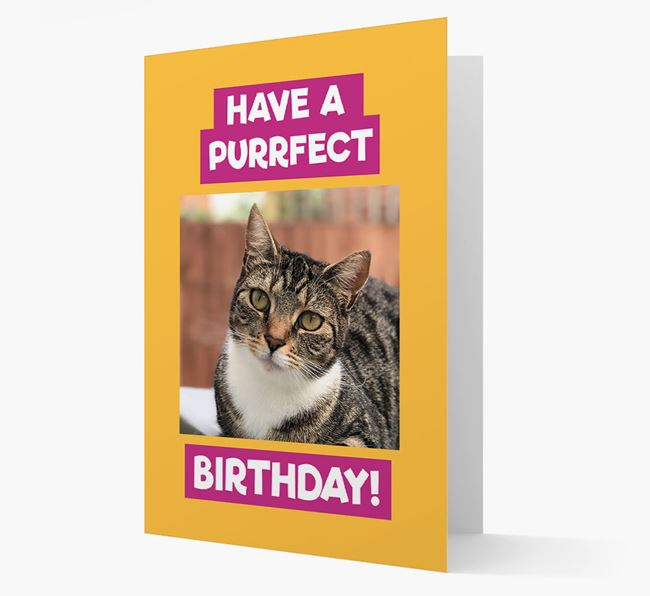 'Have a Purrfect Birthday' - Cat Photo Upload Card