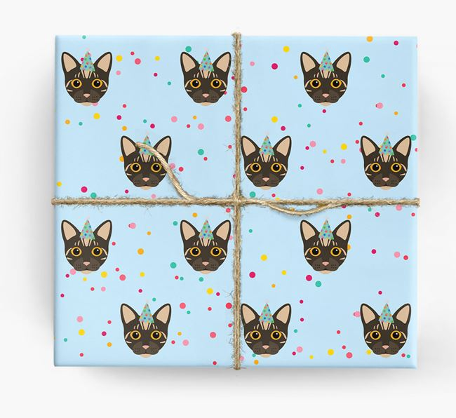 'Birthday Confetti' - Personalized Bengal Wrapping Paper