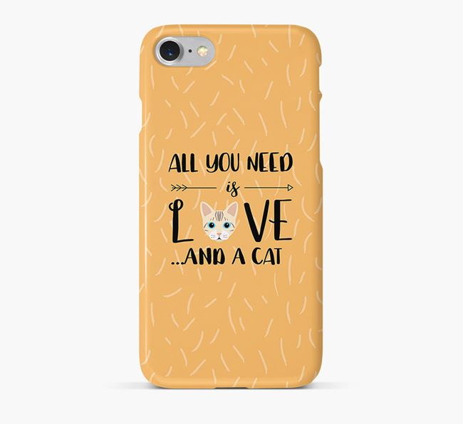 'All You Need is Love' - Personalised Bengal Phone Case
