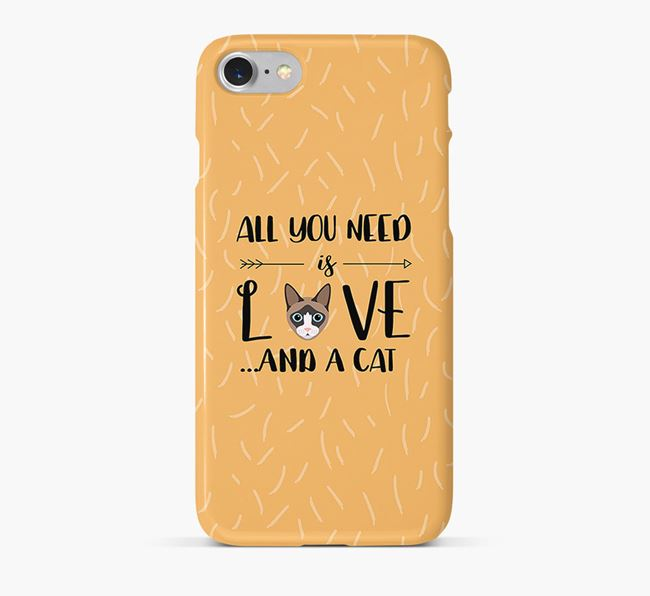'All You Need is Love' - Personalised Cat Phone Case