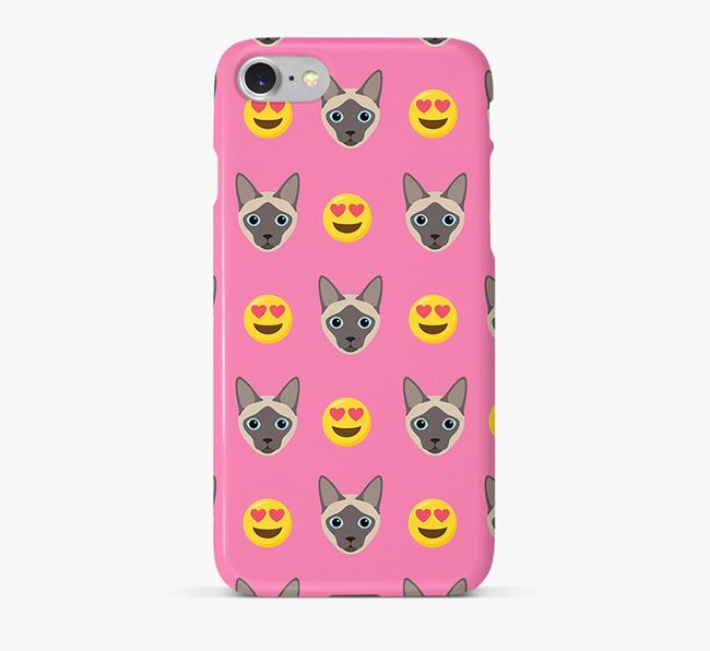 'Heart Eyes' - Personalized Siamese Phone Case