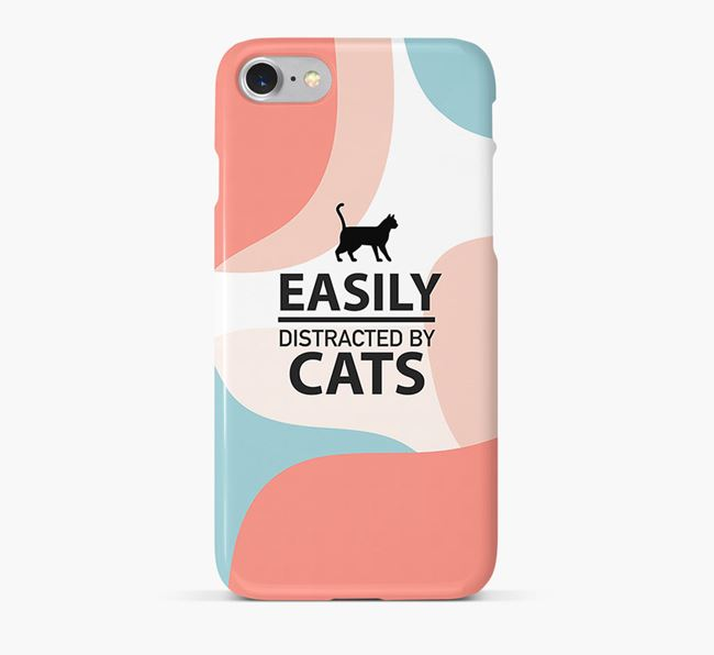 'Easily Distracted by Cats' - Personalized Siamese Phone Case