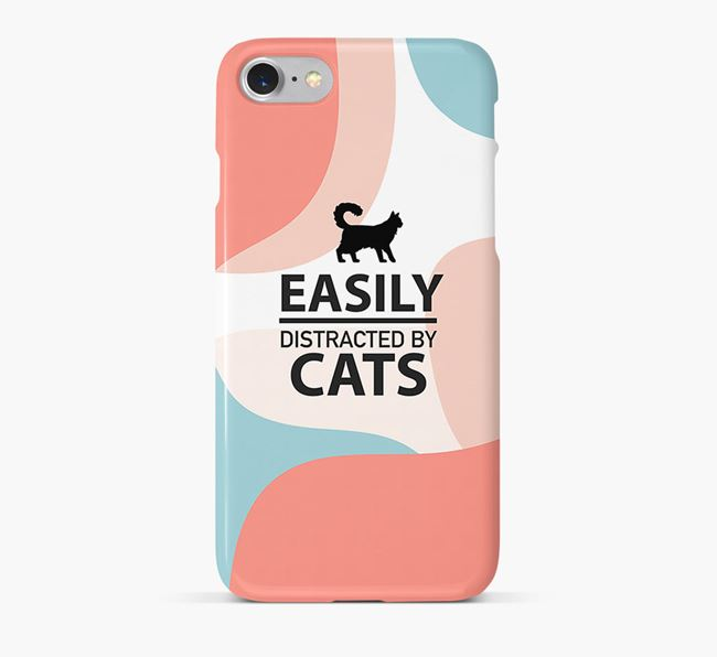 'Easily Distracted by Cats' - Personalised Cat Phone Case