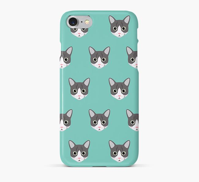 'Cat Icon Pattern' - Personalised Cat Phone Case