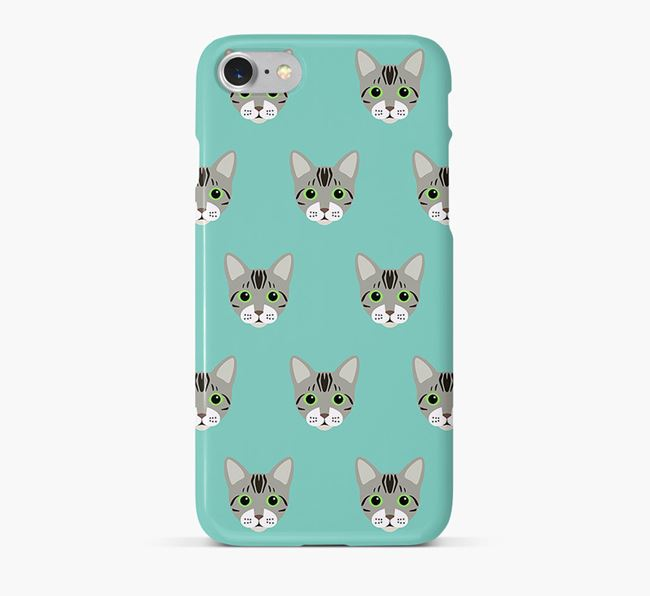 'Bengal Icon Pattern' - Personalized Bengal Phone Case