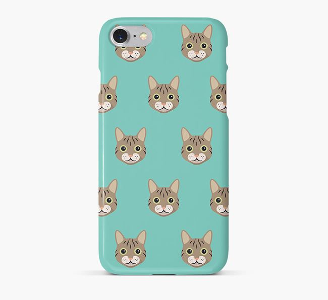 'Cat Icon Pattern' - Personalized Cat Phone Case