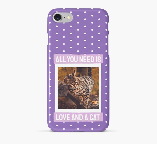 'All You Need is Love' - Bengal Photo Upload Phone Case
