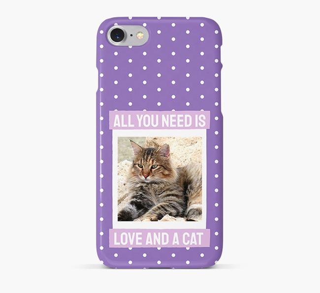 'All You Need is Love' - Cat Photo Upload Phone Case