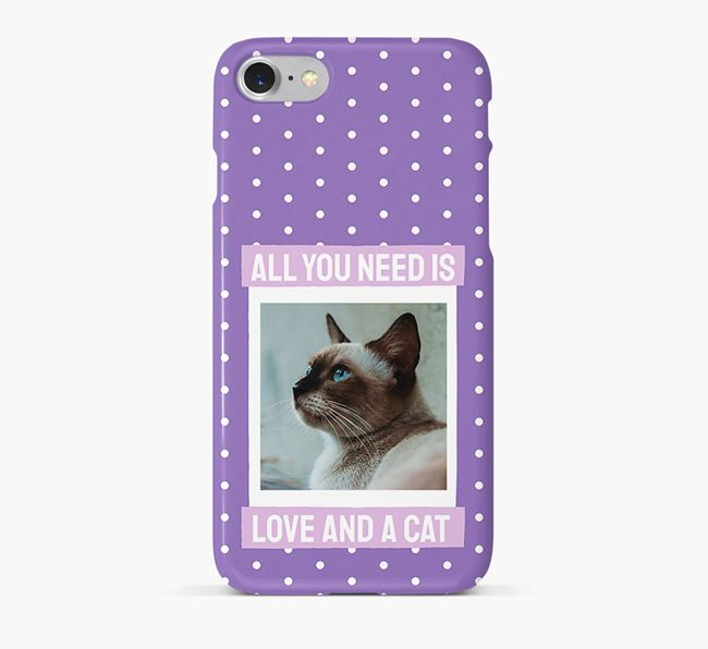 'All You Need is Love' - Siamese Photo Upload Phone Case