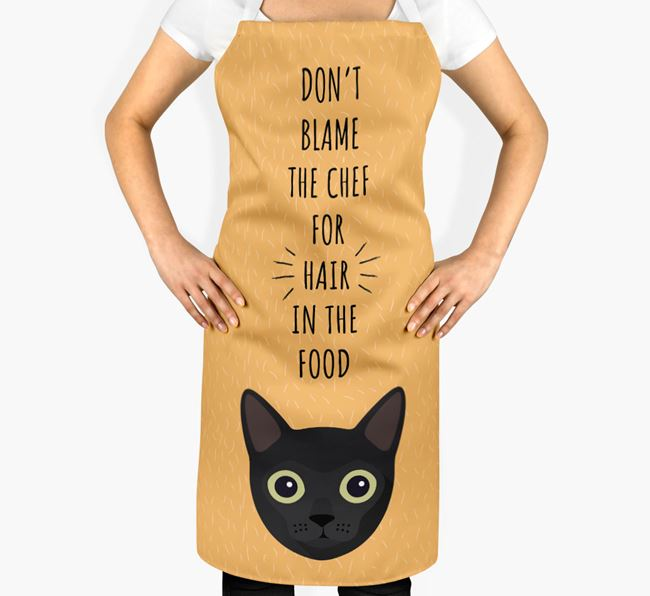 'Don't Blame the Chef' - Personalized Cat Apron