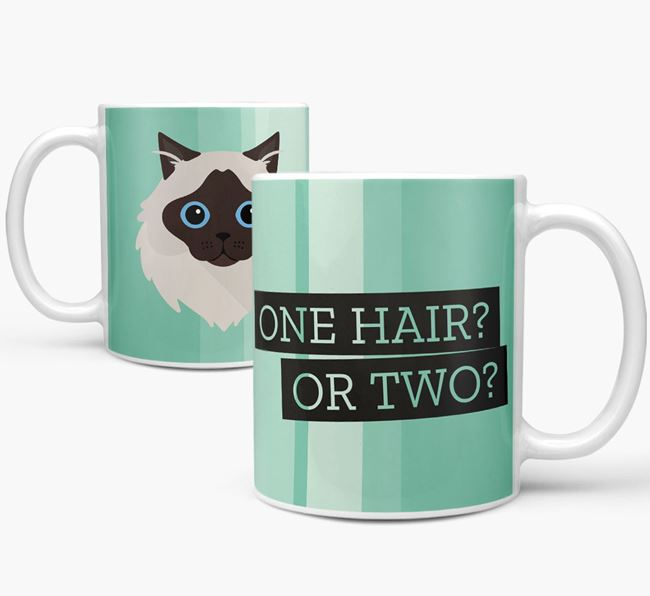 'One Hair? Or Two?' - Personalized Cat Mug