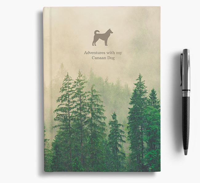 Foggy Forest Canaan Dog Notebook