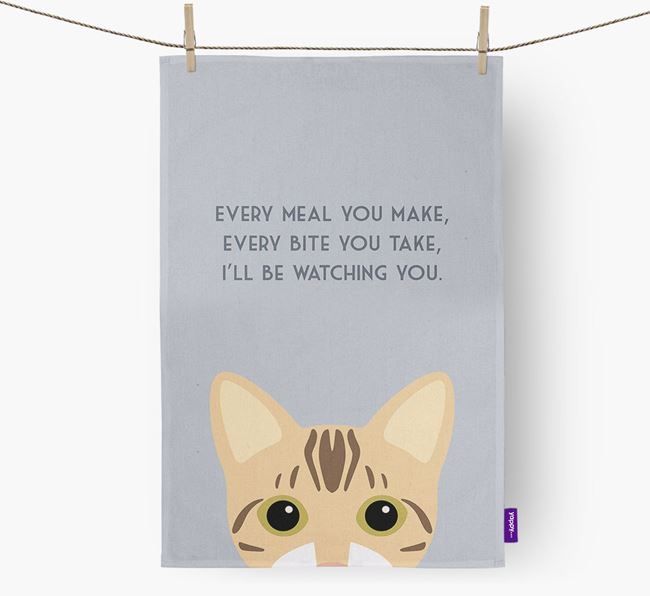 'I'll Be Watching You' - Personalised Bengal Tea Towel