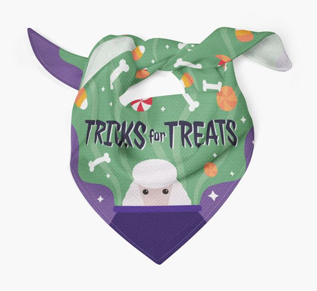 'Tricks For Treats' - Personalised Poodle Bandana