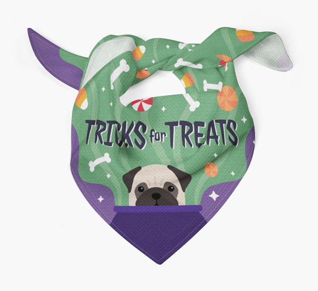 'Tricks For Treats' - Personalized Pug Bandana