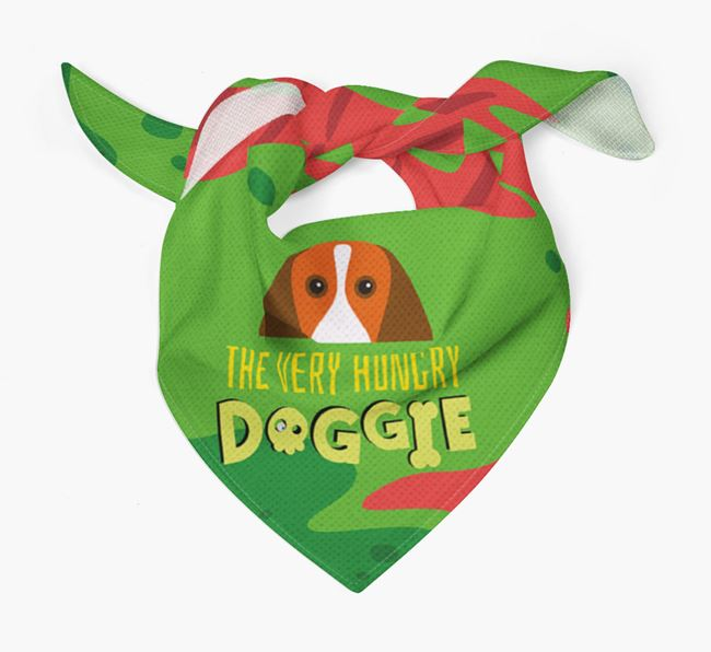'The Very Hungry Doggie' - Personalised Beagle Bandana