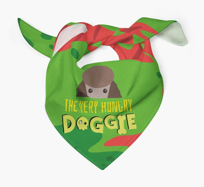 'The Very Hungry Doggie' - Personalised Poodle Bandana