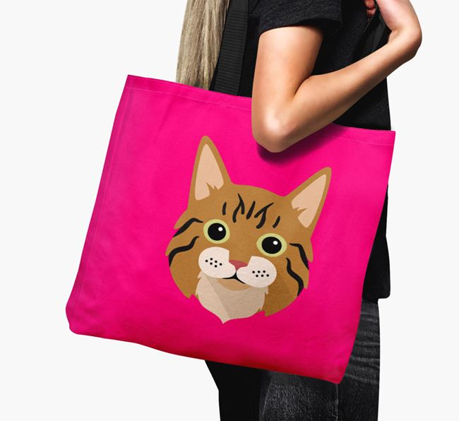 'Cat Icon' - Personalized Canvas Bag