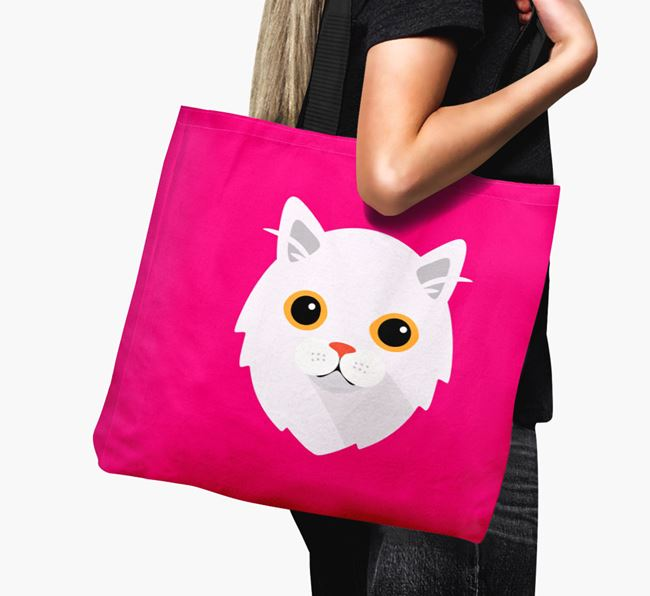 'Cat Icon' - Personalised Canvas Bag