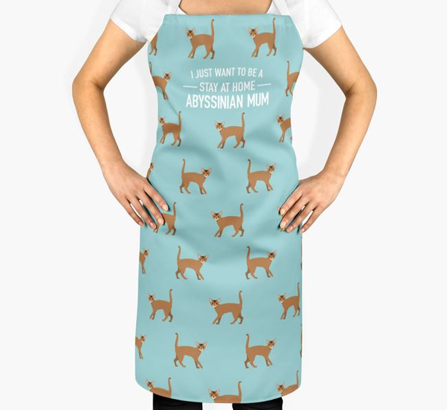 'Stay at Home Cat Mum' - Personalised Apron