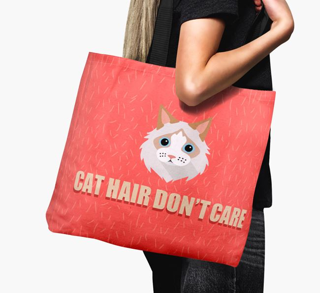 'Cat Hair Don't Care' - Personalized Cat Canvas Bag