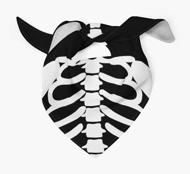 Skeleton Design - Personalized Schnauzer Bandana