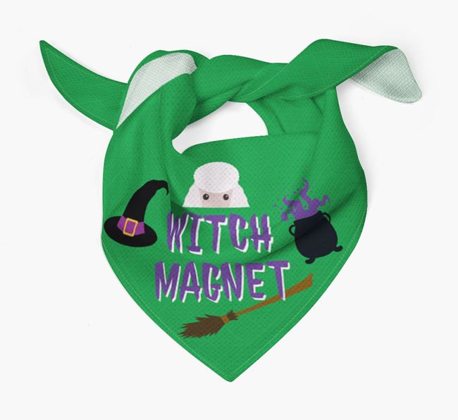 'Witch Magnet' - Personalised Poodle Bandana