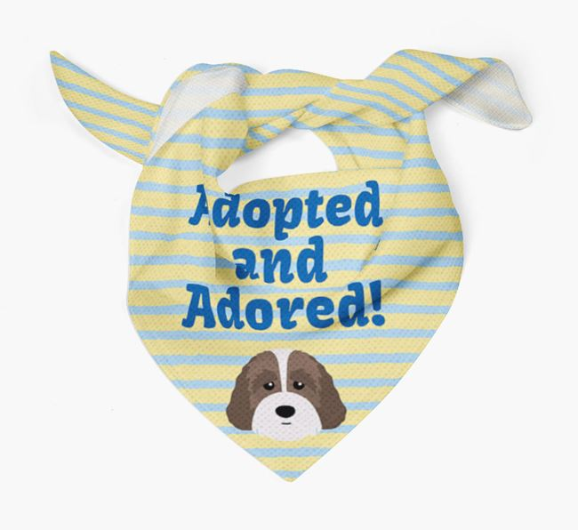 'Adopted and Adored' - Personalised Australian Labradoodle Bandana