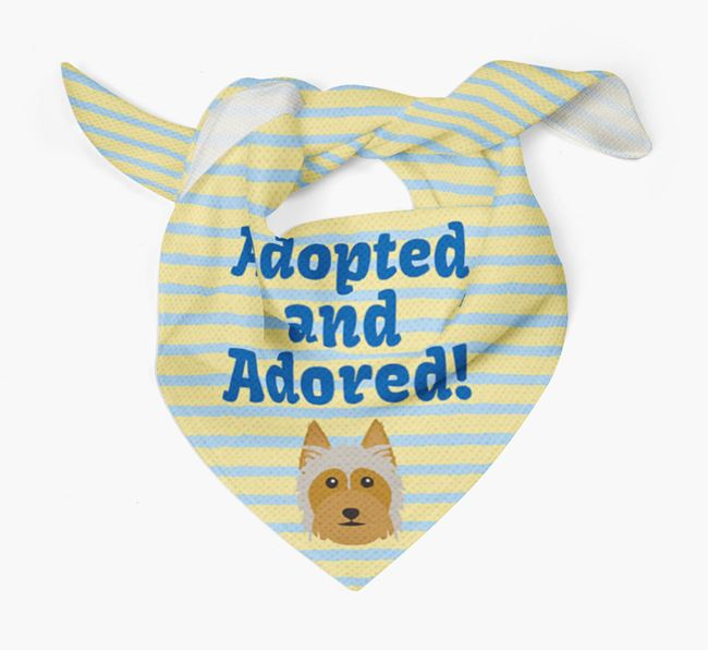 'Adopted and Adored' - Personalised Australian Silky Terrier Bandana